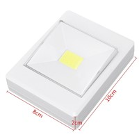 Wireless COB LED Closet Night Light Cupboard Stir Wall Lamp Switch With Magnetic Battery Powered