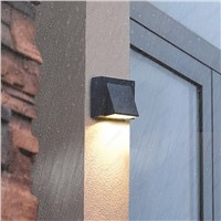 Outdoor Lamp 3W LED Wall Sconce Light Fixture Waterproof Building Exterior Gate Balcony Garden Yard