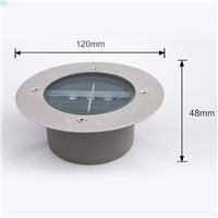 Waterproof Solar Light LED Round Underground Garden Road Lawn Path Outdoor Lamp
