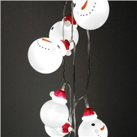 LumiParty 1.6M LED Snowman String Lights 10 LED Beads Night Lamp for Kid's Room Christmas Tree Hanging Pendant Decoration Gift