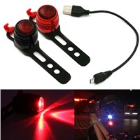 LED Waterproof Bike Bicycle Front Rear Tail Lights Cycling Safety Warning Caution Flash Lamp CLH@8