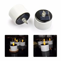 LED new solar lights home solar candle lights LED environmental protection and energy saving candle lights