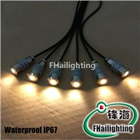 DC12V 0.3W Walkover Light 15mm Stainless Steel Enclosure Outdoor LED Matrix