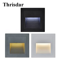 10PCS 1W 3W Outdoor Recessed Led Stair Step Light Corridor Aisle Wall Corner Light Landscape Buried Stairway Night Light