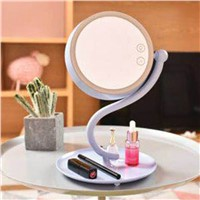 Mirror Desk Lamp 360 Degree Rotation Make Up Mirror Magnifying LED Night Light Touch Sensor Rechargable led Table Light