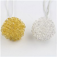 Mabor 500CM Metallic Wire Ball Shape LED Light String Night Christmas Home Decoration