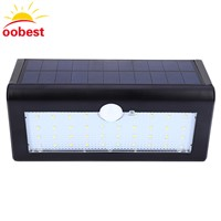 oobest Waterproof 38 LED Solar Light White Solar Power Outdoor Garden Light PIR Motion Sensor Pathway Garden Yard Wall Lamp