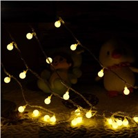 20/30/50 LEDs Warm White Globe String Lights Outdoor Christmas Party Xmas Patio Decoration String Lights