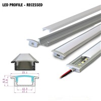 10pcs 1m led aluminum profile tube for 5050 5630 led cabinet rigid bar light strip housing channel with cover end cap clip shell