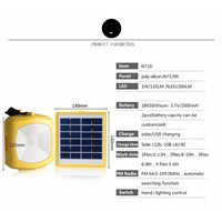 Portable Solar Power Led Lighting Bulb Lamp Solar Panel Home System Kit With Radio Outdoor Camping Emergency