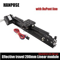 NEW!!! Openbuilds Mini V linear actuator Effective travel 200mm Linear module  with NEMA17 stepper motor for Reprap 3D printer