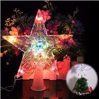 YAM Color Changing Xmas Christmas Tree Topper Star Light Party LED Lamp Decoration