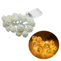 20LED Rattan Ball Battery String Fairy Lights Xmas Party Wedding Lamp L15