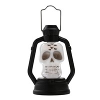 Mini Funny LED Colorful Halloween Lantern Lamp Portable Hanging Night Light Halloween Gift (Skull)