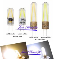 G4 COB Filament LED Bulb Home Chandelier Light 2W AC 220V White/Warm white  5pcs