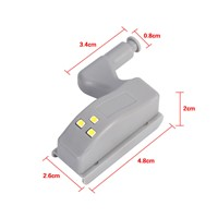 10pcs Universal Cabinet Hinge LED Light Cupboard Closet Wardrobe Smart Sensor LED Hinge Lights Warm White MAYITR