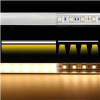 10pcs 1m led aluminum profile for 5050 5630 5730 2835 3538 rigid bar cabinet light strip housing channel with cover end cap clip