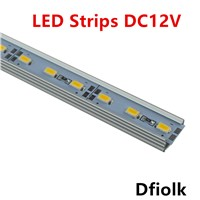 10pcsDHL1m led strip aluminum profile for 5050 5630 led rigid barlight led bar housing aluminum channel with cover end cap clips