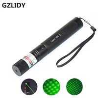 Green Laser sight High Power hunting Green Dot tactical 532 nm 200mw 303 laser pointer verde lazer Pen Head Burning Match