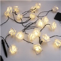 6m 30 LED Rose Solar String Lights Led Lighting Strings Wedding Christmas Holiday Festival Party Decor Warm White/White/Colorful