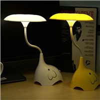 YK2233 Wireless Dimmable LED Desk Lamp Touch-Sensitive USB Charging Desk Lights (White)