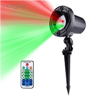 Holigoo Christmas Laser Light Stars 24 Patterns Red Green Projector Remote Outdoor IP65 Waterproof For Xmas Garden Decoration