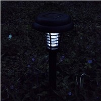 2 LED Solar Light Garden Yard LED Mosquito Bug Zapper Killer Lawn Lamp