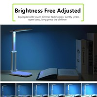 10 Lamp Beads Dimmable LED Desk Lamp Folding Table Light (White)