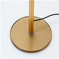 Simple Stylish Foldable LED Desk Lamp Sensitive Touch Switch Office Night Stand Reading Light - Gold (US Standard Adaptor)