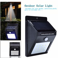Waterproof LED Solar Light Outdoor Solar Wall Light Lamp lighting with Sensor for Garden Yard Deck Path Street Solar Lamp 20LED