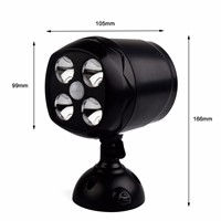 Waterproof Led Motion Sensor Light Security LED Wall Spotlight Wireless Security Flood Path Garden Lamp