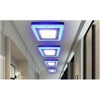 Two-color matte panel lights 3+2w blue+Warm White/blue+Cold White led panel light atmosphere light