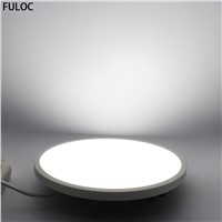 FULOC LED Round Square Panel Light 8W 15W 20W 30eCeiling Recessed Downlight Panel Lamp Ceiling Lamp Down Light Slim Downlight
