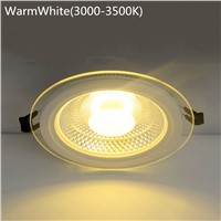 SPLEVISI 2PCS/Lot 3 Colors Dimmable COB LED Panel Ceiling Lights 5W 10W 15W Glass Cover LED Spot bulb