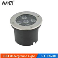 Freeshipping 5W LED Waterproof Outdoor Ground Garden Path Floor Underground Buried Yard Lamp  Light 120mm CE&ROHS