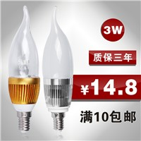 Led candle lamp energy saving lamps lamp crystal light bulb led spotlight light source e14 -JieMing lighting