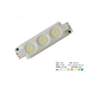 20PCS 5050 SMD LED module;high bright;0.72W;IP65;DC12V;60-66lm;size:68.2mm*19.5mm*5.7mm