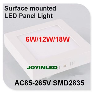 6W 12W 18W Surface mounted led panel light no cut ceiling square down light 600lm kitchen Bathroom home lamps