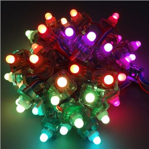 DC 12V 5V WS2801 WS2811 SH1908 UCS1903 12mm Square Diffused Addressable RGB LED Pixel String module node light Waterproof IP68