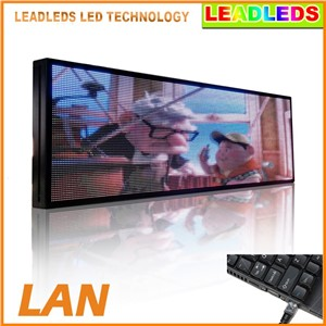 39 X 14 Inches P5 SMD Full Color Video LED Sign Programmable Moving Advertising Message Indoor Light For Car Window Display