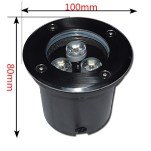 3*1W 1W LED underground lamps Buried lighting LED underground light outdoor recessed DC12V AC85-265V