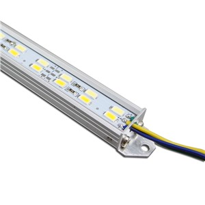 0.5 Meter SMD5730 Double Row Color Temperature Adjustable Rigid LED Strip lighting 144LEDs per Meter with U Aluminum Shell