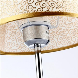 Modern Decorative Golden/white PVC&stainless Steel Led E27 Table Lamp For Bedroom Living Room Desk Book Lamp AC 80-265v