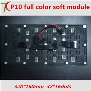 P10 indoor soft full color module for special shapes led display , 32*16 pixels,320mm*160mm,8S,10000dots/m2