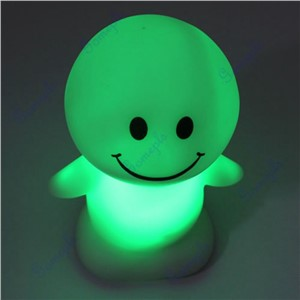 Better 1 pc Christmas Cute Sunny Day Dolls LED Novelty Lamp Changing Color Night Light Gift