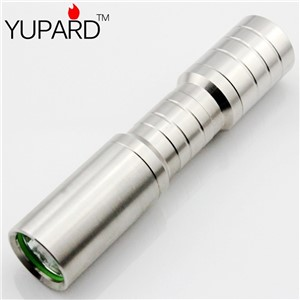 YUPARD Q5 LED mini outdoor stainless steel 14500 rechargeable glare bright flashlight AA battery mini outdoor camping sport