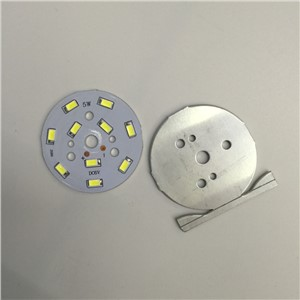 10pcs Small round light board 6 V strips light plate 50 mm circular lamp board led small round light board 5 W