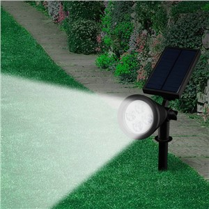 LED Solar Powered Spotlight Rechargeable Lawn Lights Waterproof Outdoor Wall Pathway Stake Lighting for Landscape, Lawn, Garden