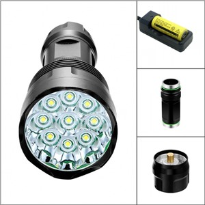 Led flashlight T9 Torch 15000 lumen 5-Mode 9x Cree XM-L T6 tactical Lantern Flash Light for Hunting Camping
