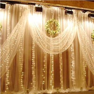 Fairy wedding Lights 3*3m LED curtain lights Holiday lighting garland Home indoor outdoor New Year Christmas luminarias decor